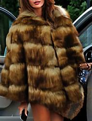 cheap -Long Sleeve Coats / Jackets Faux Fur Wedding Women's Wrap With Fur