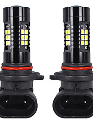 cheap -OTOLAMPARA Car LED Headlamps 9005(HB3) Light Bulbs 1800 lm SMD 3030 21 W 21 For universal All Models All years 2pcs