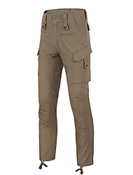 cheap -Men's Tactical Pants Waterproof Windproof Ventilation Breathable Fall Winter Spring Solid Colored Camo / Camouflage Bottoms for Camping / Hiking Hunting Fishing Camouflage Grey Khaki S M L XL XXL