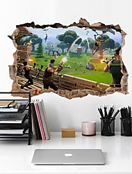 cheap -Fortnite Game Wall Stickers Plane Wall Stickers / Holiday Wall Stickers Decorative Wall Stickers, PVC Home Decoration Wall Decal Wall Decoration 1pc