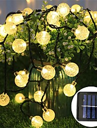 cheap -Solar LED Bubble Ball Shape Battery Box Lighting Warm Chain Christmas Party Festival Indoor Outdoor Decorative Lights