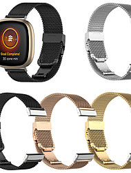 cheap -Milanese Watchband For Fitbit Versa 3 / Fitbit Sense Smart Bracelet Wrist Band Metal Replaceable Watch Straps For Fitbit Versa 3 / Fitbit Sense