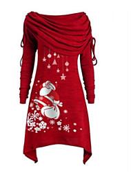 cheap -Women's Sheath Dress Short Mini Dress - Long Sleeve Print Patchwork Print Fall Casual Christmas 2020 Black Blue Purple Red Gray S M L XL XXL 3XL 4XL 5XL