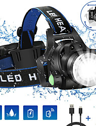 cheap -Headlamps 1200 lm LED LED 1 Emitters 3 Mode with Battery and Charger Camping / Hiking / Caving Cycling / Bike Climbing Black / Aluminum Alloy