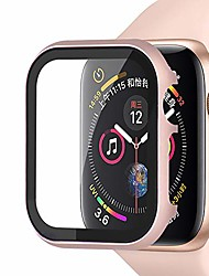 cheap -compatible with apple watch case 38mm 40mm 42mm 44mm, metal bumper protective cover aluminum alloy frame screen protector tempered film compatible iwatch series 5/4/3/2