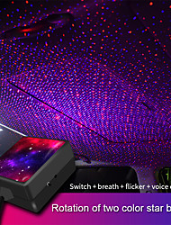 cheap -5V USB Car Interior Ceiling Atmosphere Light Dual Color Sound Activited Xmas Starry Sky Projector Auto Decorative Ambient Lamp