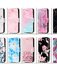 cheap -Phone Case For Apple Full Body Case Leather Wallet Card iPhone 12 Pro Max 11 SE 2020 X XR XS Max 8 7 6 Wallet Card Holder Shockproof Butterfly Marble Animal PU Leather