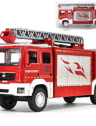 cheap -Alloy Fire Engine Vehicle Toy Truck Construction Vehicle Transport Car Toy Simulation Music & Light All Adults Kids Car Toys