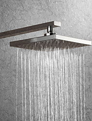 cheap -Chrome 8 Inch Square ShowerHead Pressure Boosting Indoor Outdoor Rainfall Shower Head