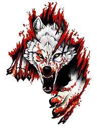 cheap -Car Sticker Cool Gray Angry Wolf Window Wall Automobiles Motorcycles Exterior Accessories Reflective PVC Decals
