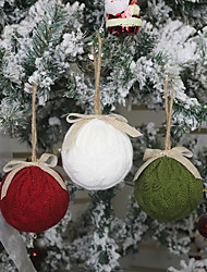 cheap -Christmas Knitted Ball Ornaments Gift Accessories Christmas Decorations Christmas Pendants Christmas Tree Pendants