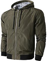cheap -mens windbreaker active lightweight hooded jacket (large, 1ks20_green)