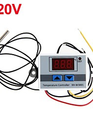 cheap -220VAC Digital LED Temperature Controller XH-W3001 For Incubator Cooling Heating Switch Thermostat NTC Sensor