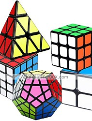 cheap -Speed Cube Set 5 pcs Magic Cube IQ Cube 2*2*2 3*3*3 4*4*4 Speedcubing Bundle 3D Puzzle Cube Stress Reliever Puzzle Cube Smooth Office Desk Toys Brain Teaser Pyramid Megaminx Kid's Adults Toy Gift