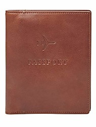 cheap -men's passport case-cognac, dark brown, one size