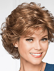 cheap -Synthetic Wig Curly With Bangs Wig Short Brown Synthetic Hair Women's Fashionable Design Classic Easy to Carry Brown