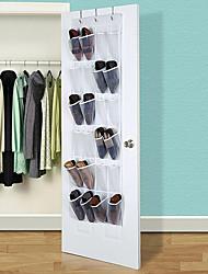 cheap -24 Pocket Clear Hanging Shoe Organizer Bathroom Holder Storage Base Living Room Rack Hanger Sorting PVC Door Bag
