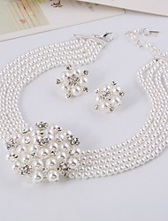 cheap -Women's White Bridal Jewelry Sets Earrings Jewelry White For Gift Festival