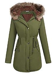 cheap -women's windbreaker outwear warm wool coat down jackets army green