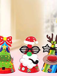 cheap -Christmas Toys Christmas Hat Penguin Elk Handmade Decoration Party Favors Paper 4 pcs Kid's Adults 21cm*14cm Christmas Party Favors Supplies