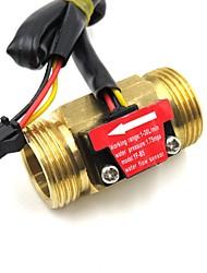 cheap -Hall Effect Water Flow Sensor Counter Indicator Flowmeter G3/4 DN20 Male Thread Brass 1-30L/min 50mm long
