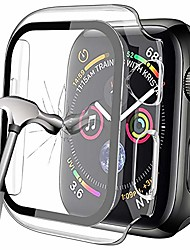 cheap -hard case compatible with apple watch se series 6/5/4 40mm with built-in tempered glass screen protector, slim guard bumper pc case overall protective cover for iwatch 40mm (clear)