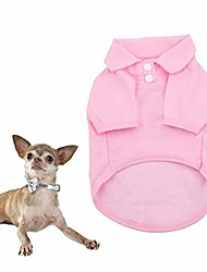 cheap -dog shirts pet puppy cotton polo shirt basic t-shirt clothes for dogs and cats (m, pink)