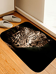 cheap -Black Spot Leopard Digital Printing Floor Mat Modern Bath Mats Nonwoven / Memory Foam Novelty Bathroom