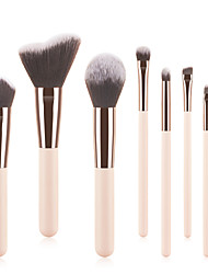 cheap -Professional Makeup Brushes 8pcs Cute Soft Full Coverage Adorable Comfy Wooden / Bamboo for Makeup Tools Eyeliner Brush Blush Brush Foundation Brush Makeup Brush Lip Brush Lash Brush Eyebrow Brush