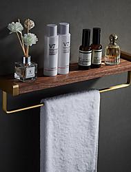 cheap -Multifunctional Bathroom Accessory Sets Black Walnut Bathroom Shelf Toilet Cosmetic Storage Rack Vanity Wall Towel Rack Pole - Wall Mounted
