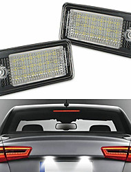 cheap -2Pcs 4W 12V 6500K Car Number License Plate Lamps With 18 LED For  Audi A3 A4 A5 A6 A8 B6 B7 Q7 RS4  Avant quattro 0608 RS4 Carbriolet 0608 RS6 Plus Avant 0809