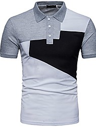 cheap -men's fit slim spell color 3 button down sport polo shirt light gray large