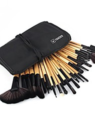 cheap -32pcs set professional makeup brush foundation eye shadows lipsticks powder make up brushes tools w/bag brown