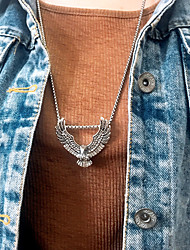 cheap -Women's Men's Pendant Necklace Chain Necklace Drop Eagle Vertical / Gold bar Gemini Lucky Blessed Artistic Fashion Punk Trendy Titanium Steel Alloy Silver 70 cm Necklace Jewelry 1pc For Christmas