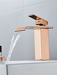 cheap -Bathroom Sink Faucet - Waterfall Electroplated Centerset Single Handle One HoleBath Taps