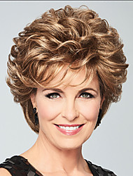 cheap -Synthetic Wig Curly Layered Haircut Wig Short Brown Synthetic Hair Women's Fashionable Design Exquisite Fluffy Brown
