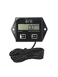 cheap -Waterproof Battery Replaceable Hour meter Tachometer Stroke Small Engine Spark For Boat Outboard Mercury
