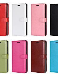 cheap -Case For Samsung Galaxy S9 / S9 Plus / S8 Plus Wallet / Card Holder / Shockproof Full Body Cases Solid Colored PU Leather / TPU
