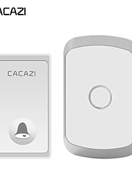 cheap -CACAZI Self-powered Waterproof Wireless Doorbell No battery Button 200M Remote LED Light Home cordless doorbell 36 Chime