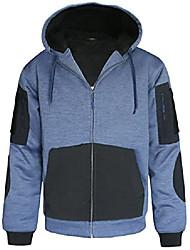 cheap -men's heavy sherpa lined hoodie warm zip up sweatshirt hooded winter fleece jacket pullover size xxxl blue