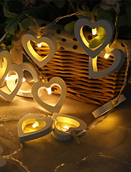 cheap -3M 20LEDs 1.5M 10LEDs Heart Shape LED String Lights Battery Powered Suitable For Christmas Holiday Party Wedding Fairy Tale Lighting Delivery Without Battery