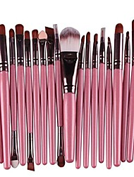 cheap -20-piece makeup brush set foundation blush eyeshadow eyebrow eyeliner concealer face powder blending brushes (pink)