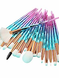 cheap -20 piece brush set, eyeshadow eyes blushing make-up brush make-up brush set - as described, diamond blue pink