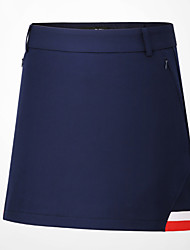 cheap -Women's Tennis Golf Skirt Breathable Quick Dry Soft Sports Outdoor Autumn / Fall Spring Summer Cotton Solid Color Dark Navy / Stretchy