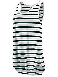 cheap -women& #39;s high low tunic tank top shirt - casual sleeveless loose fit tops