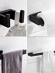 cheap -Bathroom Accessory Set / Toilet Paper Holder / Robe Hook Adjustable Length / New Design / Creative Contemporary / Modern Stainless Steel / Low-carbon Steel / Metal 4pcs / 3pcs / 1pc - Bathroom