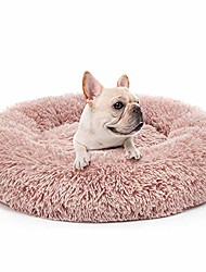 cheap -dog bed anti-anxiety calming pet beds plush donut round cuddler cushion,washable,27.6''