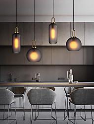 cheap -20cm Single Design Pendant Light Nordic Glass Bedside Light Dining Room Electroplated 110-120V 220-240V