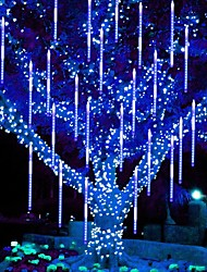 cheap -Rain Drop Lights LED Falling Rain Lights with 30cm 11.8inch 32 Tubes 576 LED Outdoor Icicle Snow Meteor Shower Lights for Christmas Wedding Party Holiday Garden Decoration