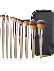cheap -10 Champagne Gold Makeup Brushes Plus Brush Pack Eye Brush Eye Shadow Brush Beauty Tool Comfortable Soft Full Set